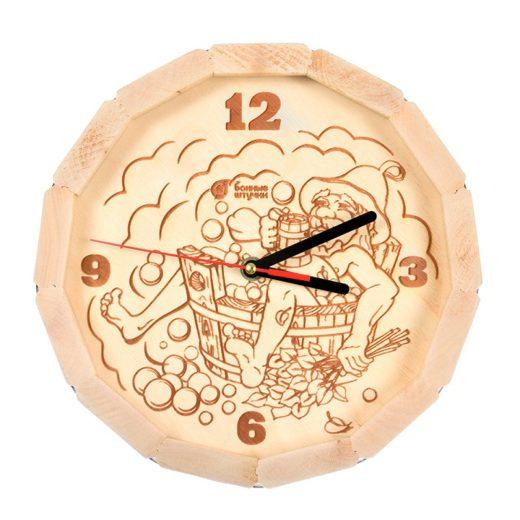 """Купить с доставкой Часы кварцевые в форме бочки """"В парилке"""""""