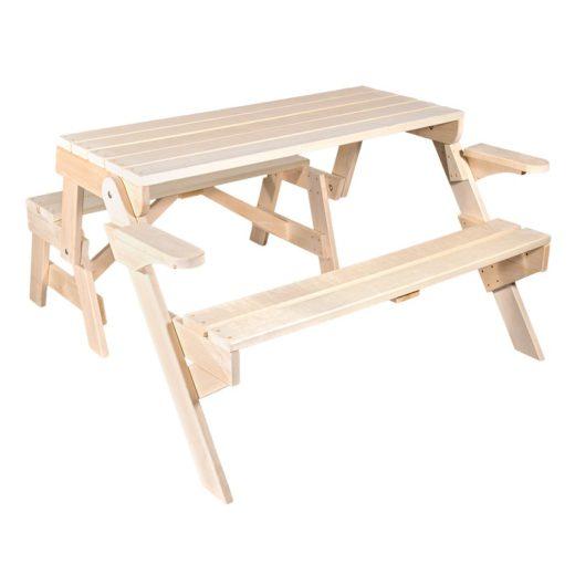 Купить с доставкой Скамья-стол раскладная
